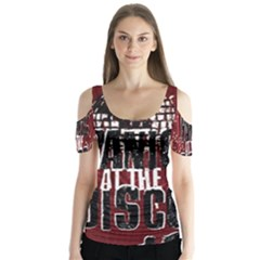 Panic At The Disco Poster Butterfly Sleeve Cutout Tee