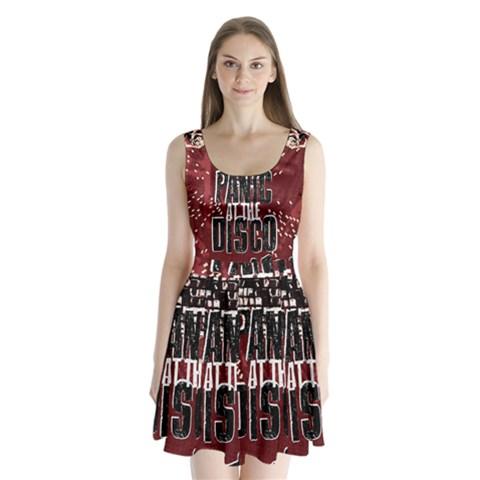 Panic At The Disco Poster Split Back Mini Dress