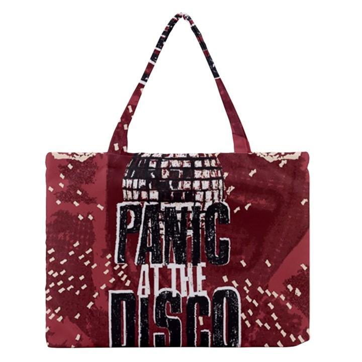 Panic At The Disco Poster Medium Zipper Tote Bag