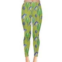 Tropical Floral Pattern Leggings
