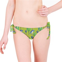 Tropical Floral Pattern Bikini Bottom