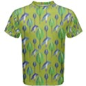 Tropical Floral Pattern Men s Cotton Tee View1