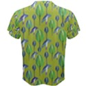 Tropical Floral Pattern Men s Cotton Tee View2