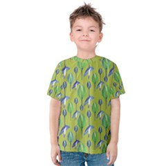 Tropical Floral Pattern Kids  Cotton Tee
