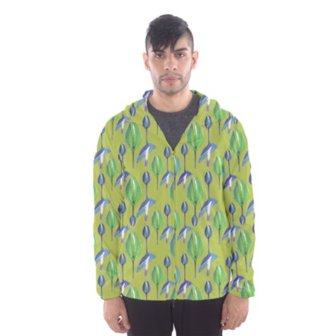 Tropical Floral Pattern Hooded Wind Breaker (Men)