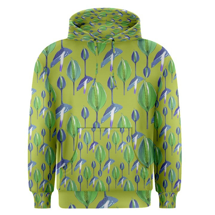 Tropical Floral Pattern Men s Pullover Hoodie