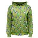Tropical Floral Pattern Women s Pullover Hoodie View1