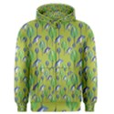 Tropical Floral Pattern Men s Zipper Hoodie View1