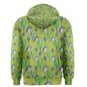 Tropical Floral Pattern Men s Zipper Hoodie View2
