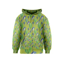 Tropical Floral Pattern Kids  Zipper Hoodie