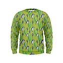 Tropical Floral Pattern Kids  Sweatshirt View1