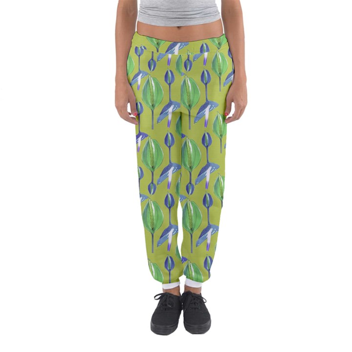 Tropical Floral Pattern Women s Jogger Sweatpants