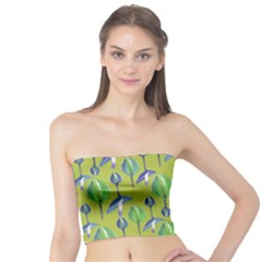 Tropical Floral Pattern Tube Top