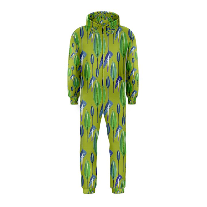 Tropical Floral Pattern Hooded Jumpsuit (Kids)