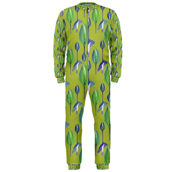 Tropical Floral Pattern OnePiece Jumpsuit (Men)