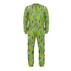 Tropical Floral Pattern Onepiece Jumpsuit (kids)