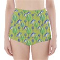 Tropical Floral Pattern High-Waisted Bikini Bottoms View1