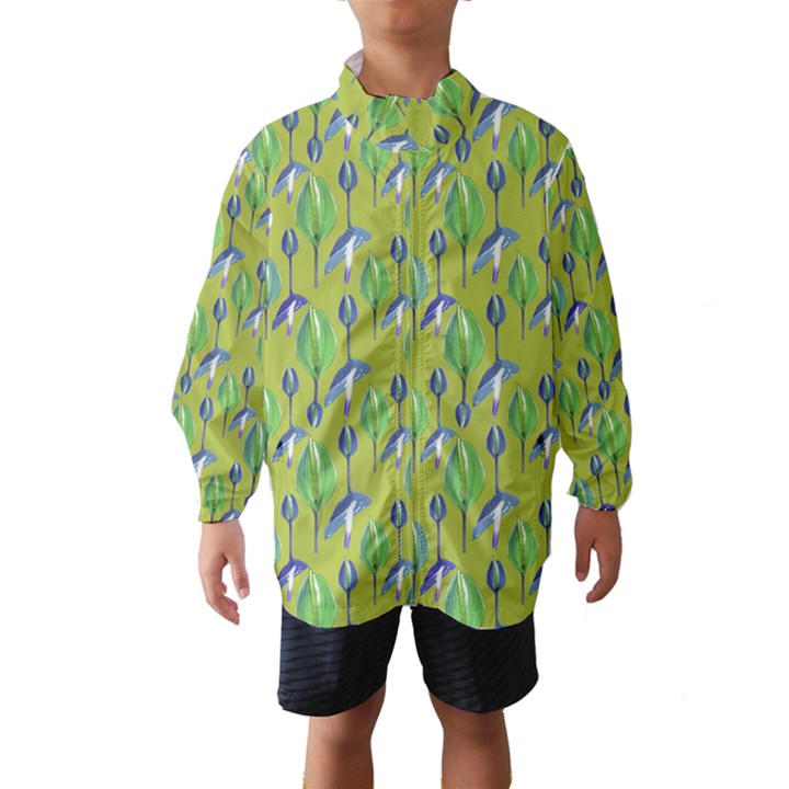 Tropical Floral Pattern Wind Breaker (Kids)