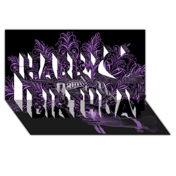 Panic At The Disco Happy Birthday 3D Greeting Card (8x4)