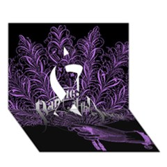 Panic At The Disco Ribbon 3d Greeting Card (7x5)