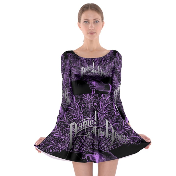 Panic At The Disco Long Sleeve Skater Dress