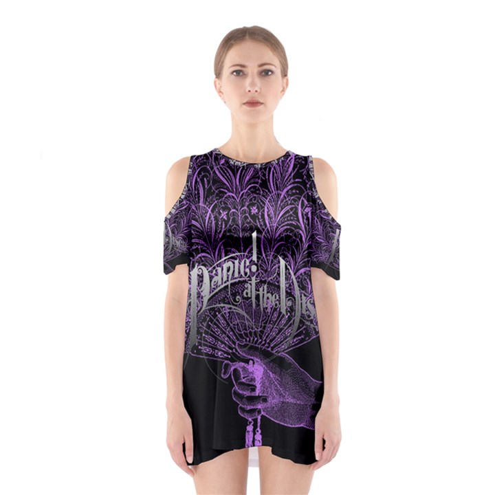 Panic At The Disco Cutout Shoulder Dress