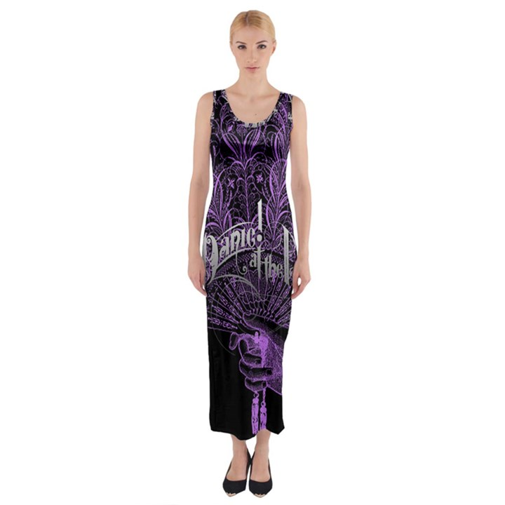Panic At The Disco Fitted Maxi Dress
