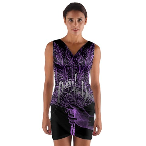 Panic At The Disco Wrap Front Bodycon Dress