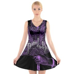 Panic At The Disco V Neck Sleeveless Skater Dress