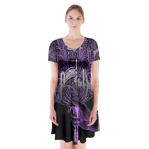 Panic At The Disco Short Sleeve V-neck Flare Dress