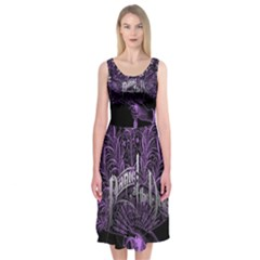 Panic At The Disco Midi Sleeveless Dress