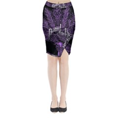 Panic At The Disco Midi Wrap Pencil Skirt
