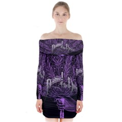 Panic At The Disco Long Sleeve Off Shoulder Dress