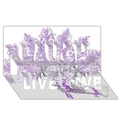 Panic At The Disco Laugh Live Love 3D Greeting Card (8x4)
