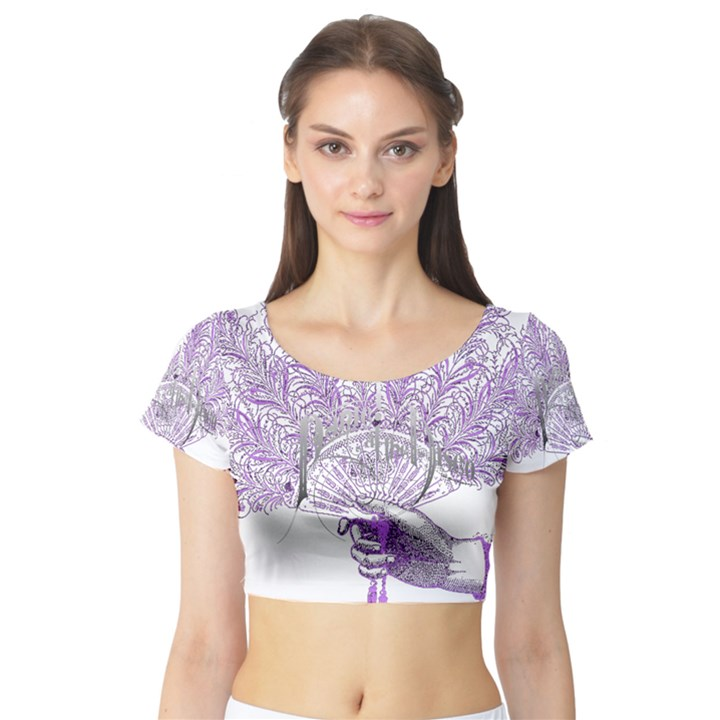 Panic At The Disco Short Sleeve Crop Top (Tight Fit)