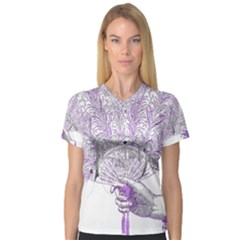 Panic At The Disco Women s V-Neck Sport Mesh Tee