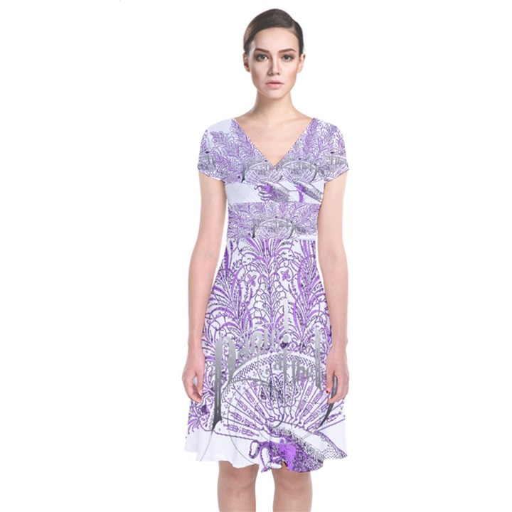 Panic At The Disco Short Sleeve Front Wrap Dress