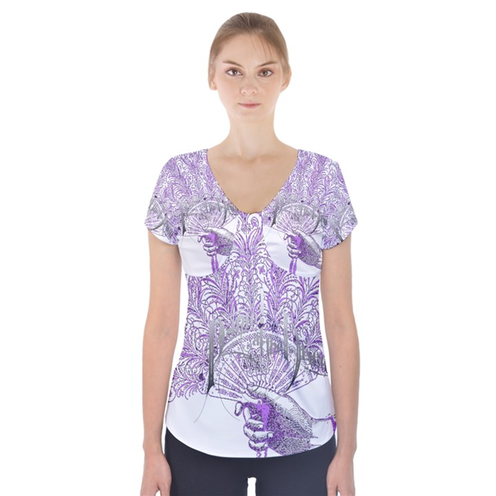 Panic At The Disco Short Sleeve Front Detail Top