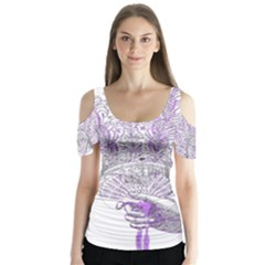 Panic At The Disco Butterfly Sleeve Cutout Tee