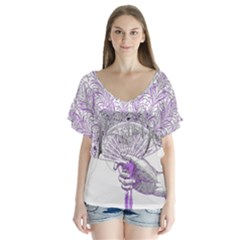 Panic At The Disco Flutter Sleeve Top
