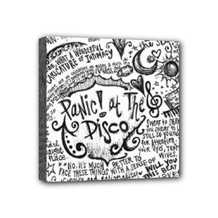 Panic! At The Disco Lyric Quotes Mini Canvas 4  x 4
