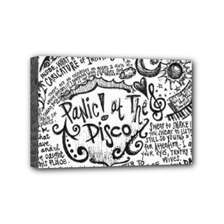 Panic! At The Disco Lyric Quotes Mini Canvas 6  x 4