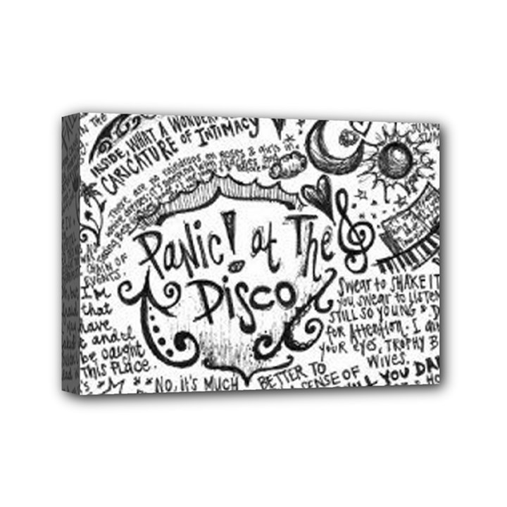 Panic! At The Disco Lyric Quotes Mini Canvas 7  x 5