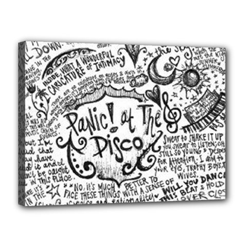 Panic! At The Disco Lyric Quotes Canvas 16  x 12