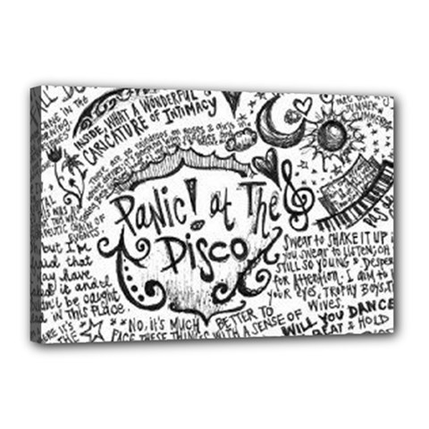 Panic! At The Disco Lyric Quotes Canvas 18  X 12