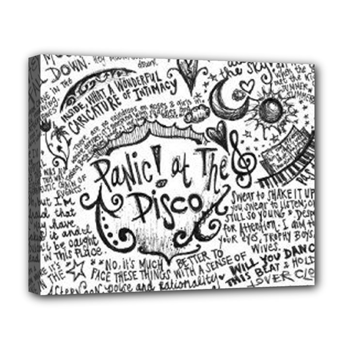 Panic! At The Disco Lyric Quotes Deluxe Canvas 20  x 16