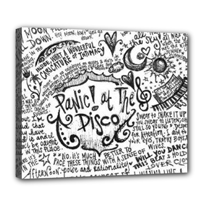 Panic! At The Disco Lyric Quotes Deluxe Canvas 24  x 20