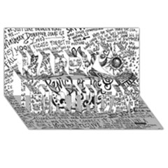 Panic! At The Disco Lyric Quotes Happy Birthday 3d Greeting Card (8x4)