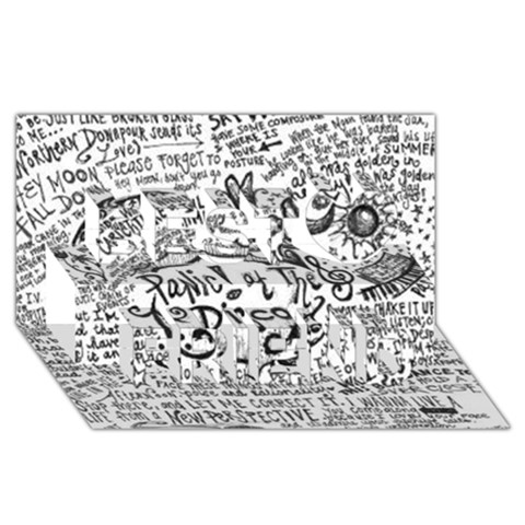 Panic! At The Disco Lyric Quotes Best Friends 3D Greeting Card (8x4)