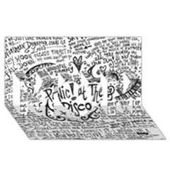 Panic! At The Disco Lyric Quotes MOM 3D Greeting Card (8x4)